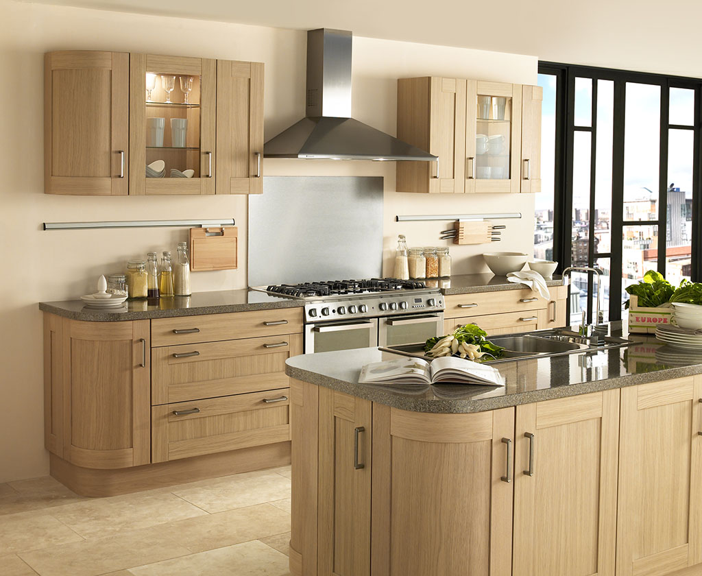 Natural Wood Shaker with Curved Units
