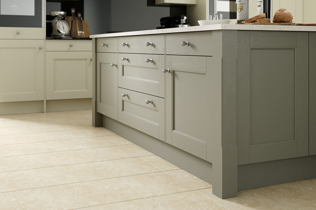 Shaker Beaded Painted Sage Grey