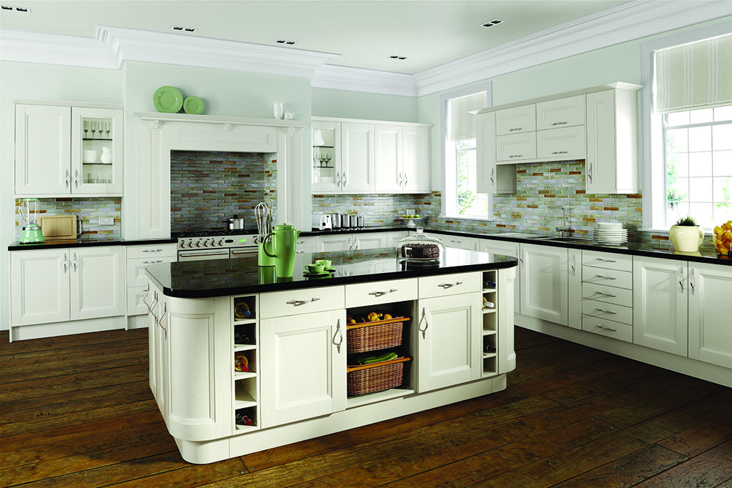 Shaker Chamfered Painted Ivory