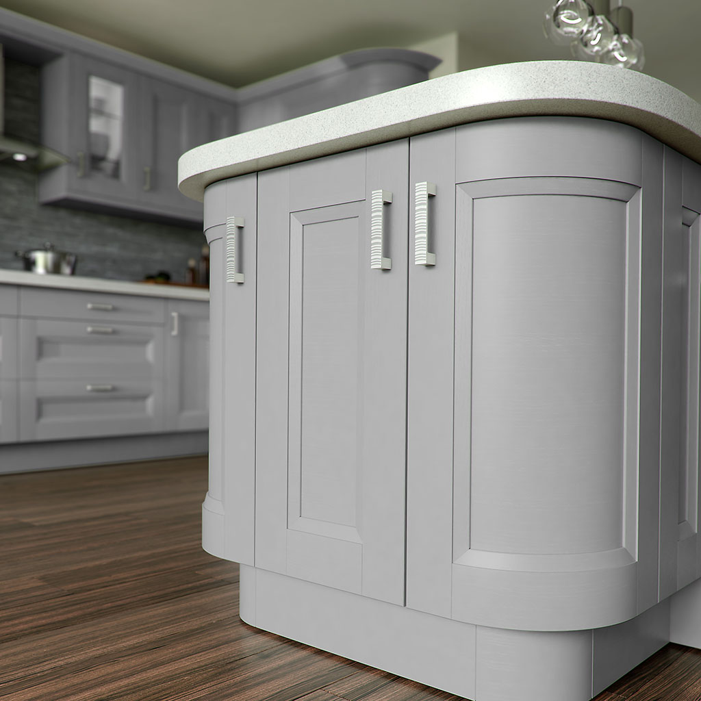 Shaker Chamfered Painted Light Grey