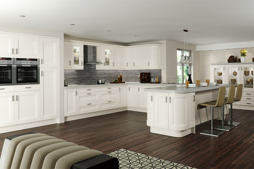 Shaker Chamfered Painted White