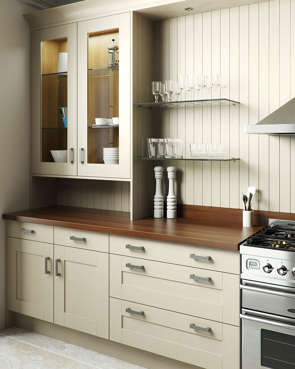 Shaker Classic Painted Oyster
