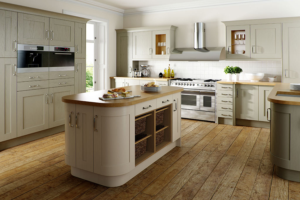 Shaker Classic Painted Sage Grey & Oyster