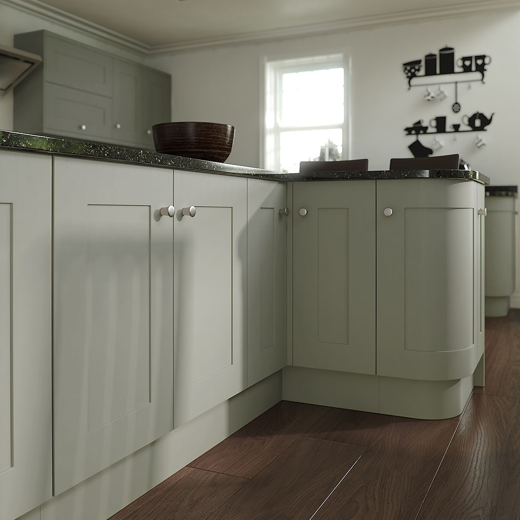 Shaker MDF Painted Sage Grey